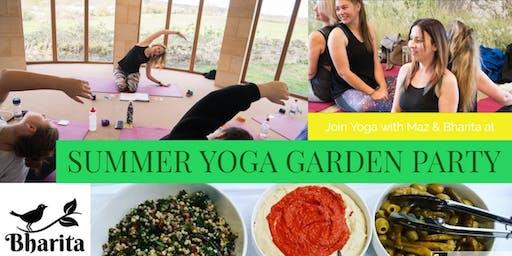 Summer Yoga Garden Party
