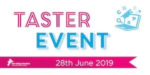 Taster Day 28th June 2019