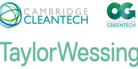 Cambridge Cleantech and Oxfordshire Greentech Finance SIG tickets