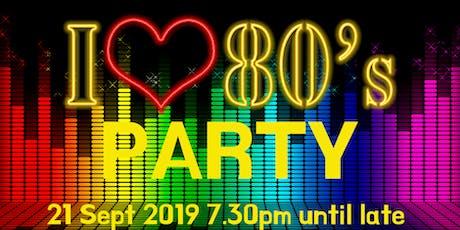I Love 80's Disco - Party - Bingo  tickets