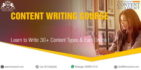 Content Writing Course by Henry Harvin Education tickets