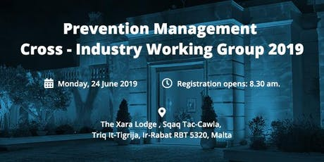 Prevention Management Cross-Industry Working Group 2019  tickets