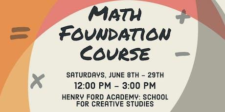 4-Week Foundational Math Course tickets