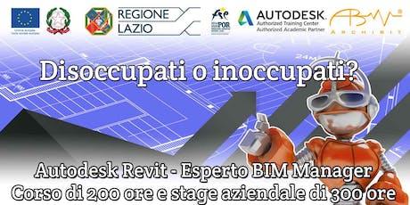 Corso Finanziato Autodesk Revit-Esperto BIM Manager biglietti