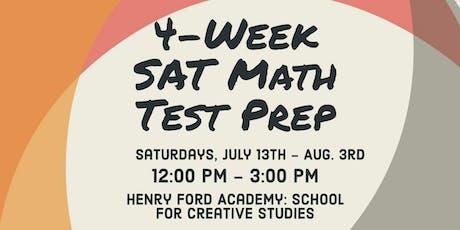4-Week SAT Math Test Prep Course tickets