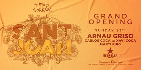 Mas Sorrer Sant Joan 2019 entradas
