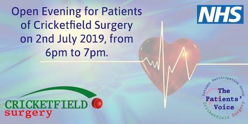 Cricketfield Surgery Open Evening