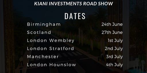Kiani Investments- Property Road Show (Birmingham)