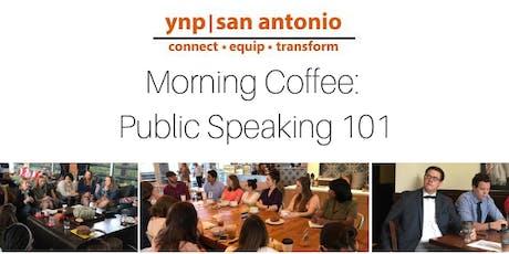 YNP Morning Coffee: Public Speaking 101 tickets