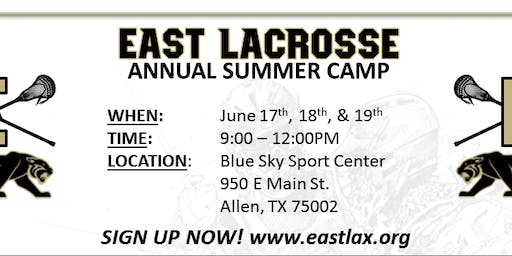 EAST Lacrosse Summer Camp 2019 (fundamentals camp)