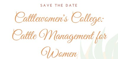 Cattlewomen's College: Cattle Management for Women
