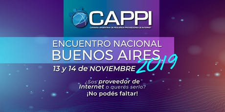CAPPI Encuentro Nacional Buenos Aires 2019 entradas