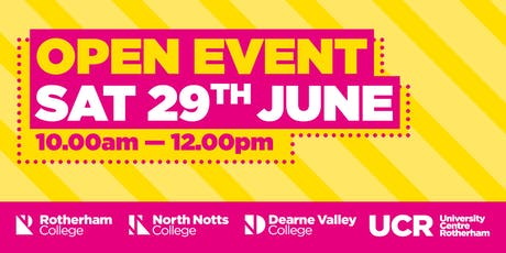 Rotherham College Open Event - Town Centre Campus tickets