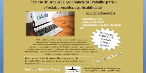 """""""Curso de Análise Ergonômica do Trabalho: Conceitos e Aplicabilidade."""""""