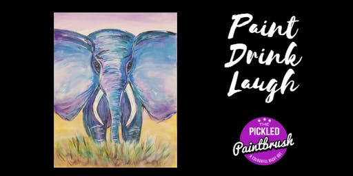 Painting Class - Elephant - July 6, 2019