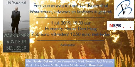 Een zomeravond met Uri Rosenthal tickets