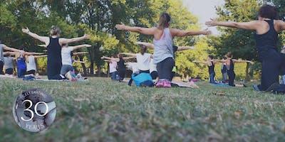 Yoga in Rittenhouse Square Park