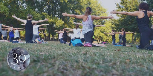 Yoga in Rittenhouse Square Park