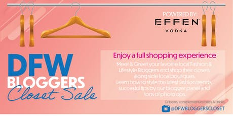 DFW Bloggers Closet Sale tickets