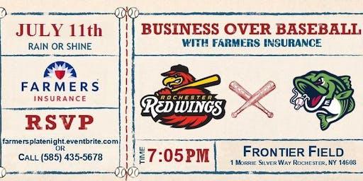 Farmers Insurance Rochester Business over Baseball
