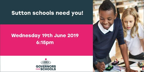 Becoming a school governor in Sutton - information evening tickets