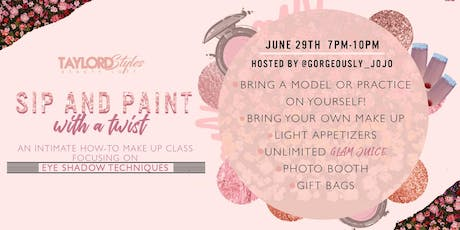 Sip and Paint with a Twist: Eyeshadow Techniques tickets