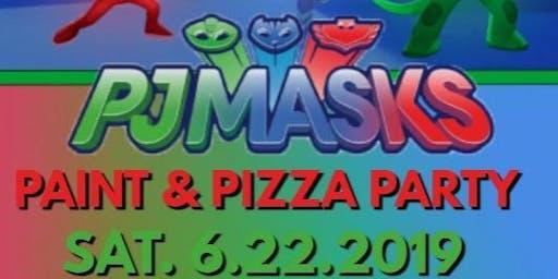 PJ Masks Paint & Pizza Party