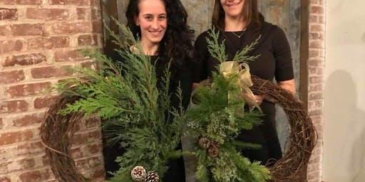 Fall Grapevine Wreath at Eola Hills Wine Cellars