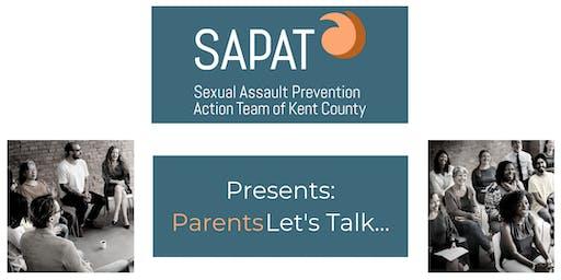 SAPAT Presents: Parents Let's Talk