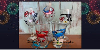 4th of July Wine Glass Paint Night