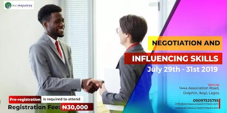 Negotiation and Influencing Skills tickets