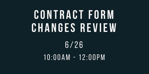 Contract Form Changes Review