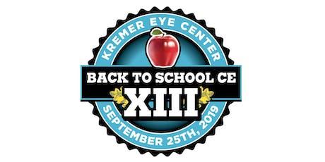 Kremer Eye Center's BTS XIII CE  tickets