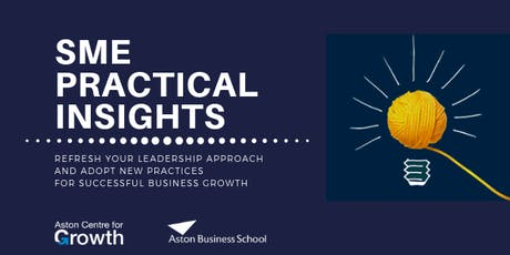 Aston Centre for Growth SME Practical Insights: AI & Big Data tickets