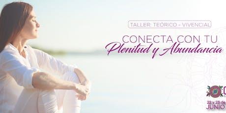 Taller: Conecta con tu plenitud y abundancia  boletos