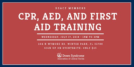 CPR, AED, and Basic First Aid Certification tickets