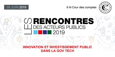 Les Rencontres des Acteurs publics 2019 tickets