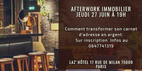 Afterwork Immobilier Devenez apporteur d'affaires billets