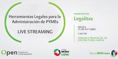 Herramientas Legales para la Administración de Pymes - Live Streaming entradas