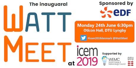 WattMeet (sponsored by EDF) at ICEM2019 tickets