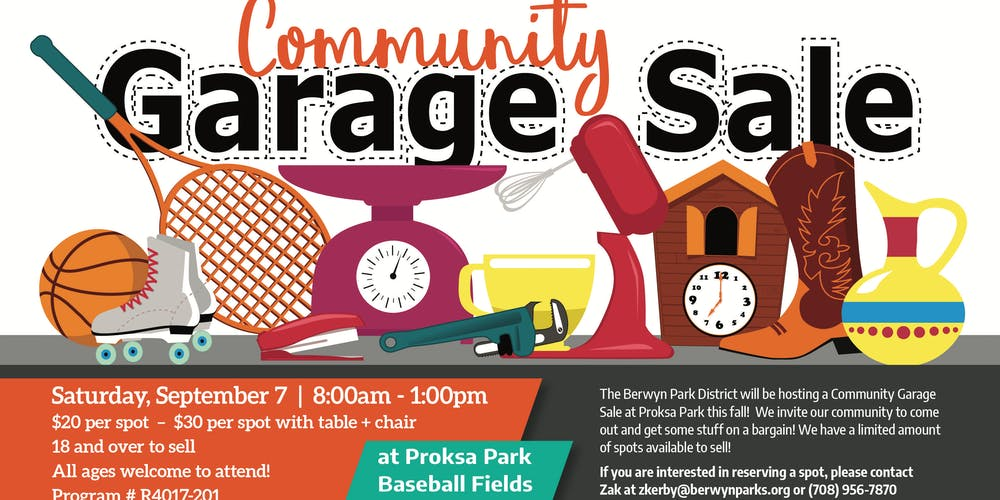 Community Garage Sale Tickets Sat Sep 7 2019 At 8 00 Am Eventbrite