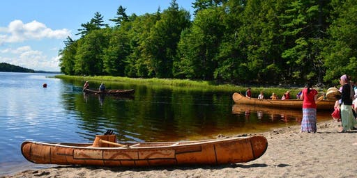 Birch Bark Canoe Launch and Flotilla