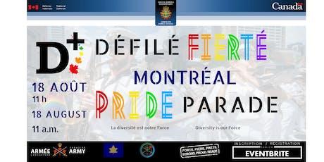 Participation des FAC et du MDN au défilé de Fierté Montréal 2019 billets
