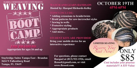 Weaving Bootcamp for Braiders tickets