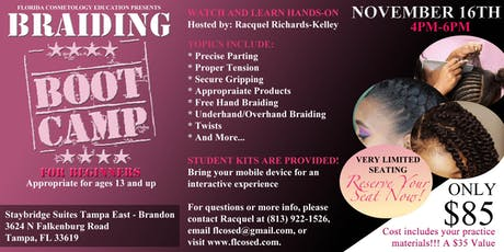Braiding Bootcamp for Beginners tickets