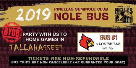 Pinellas Seminole Club Nole Bus One (vs. Louisville) tickets
