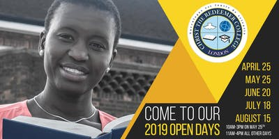Christ The Redeemer College Open Days 2019