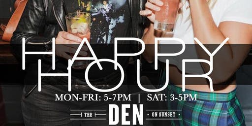Happy Hour Every Day at The Den!