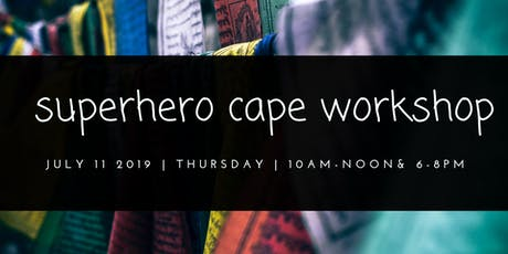 Superhero Cape Workshop tickets