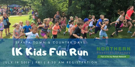 Sparta Town and Country Days 1K FUN RUN by Northern Physical Therapy tickets